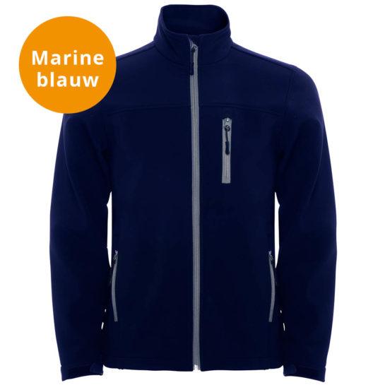 Marine Blauwe Softshell Jas2