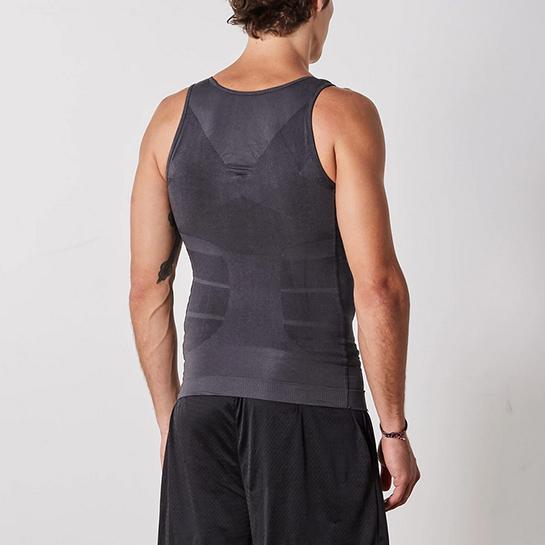 Figuurcorrigerende Shirt Grijs Achterkant