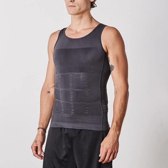 Figuurcorrigerende Shirt Grijs Voorkant