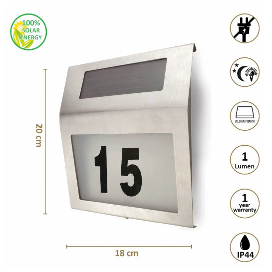 Solar Huisnummer Verlichting Odaddy