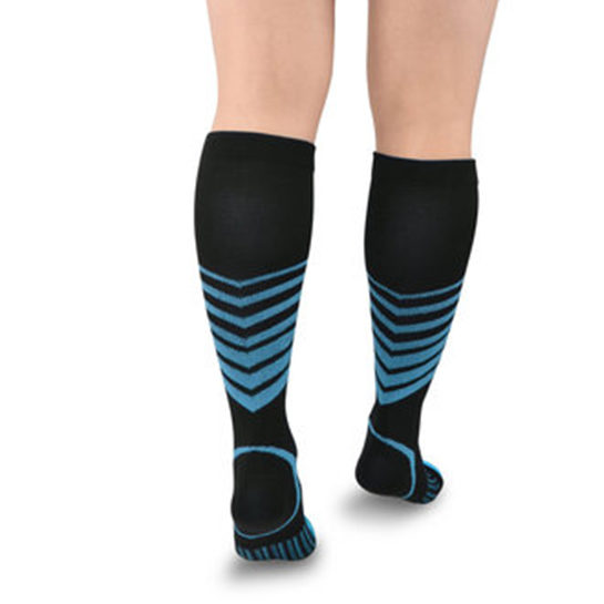 Sport Compressie Sokken Stripes Achter