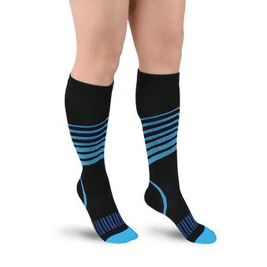 Sport Compressie Sokken Stripes Blauw