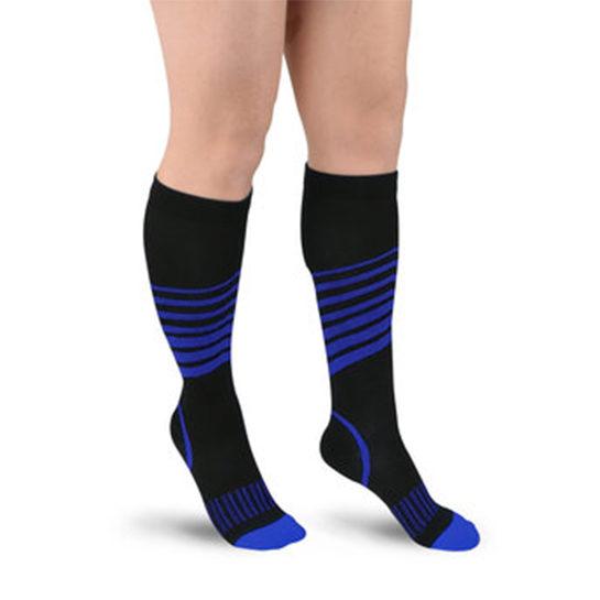 Sport Compressie Sokken Stripes Donker Blauw
