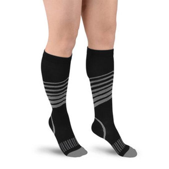 Sport Compressie Sokken Stripes Grijs