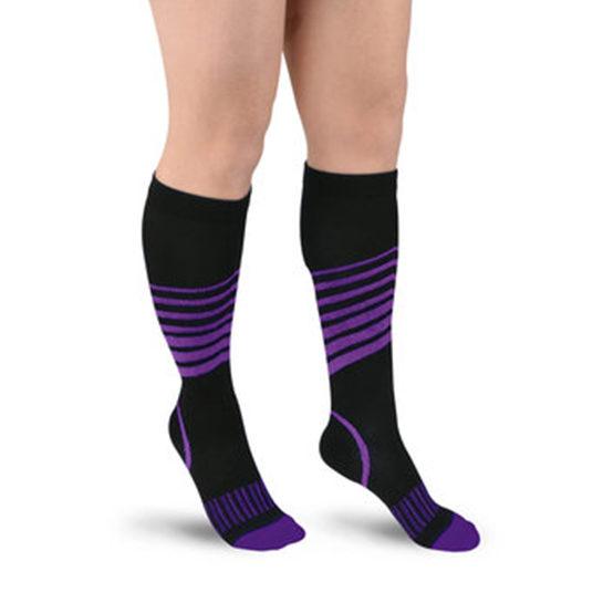 Sport Compressie Sokken Stripes Paars