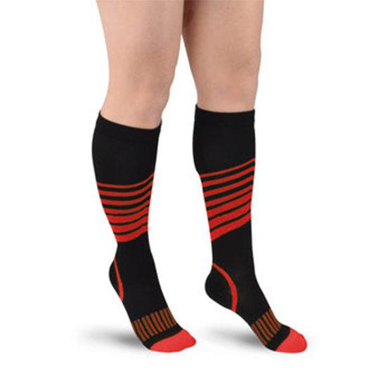 Sport Compressie Sokken Stripes Rood