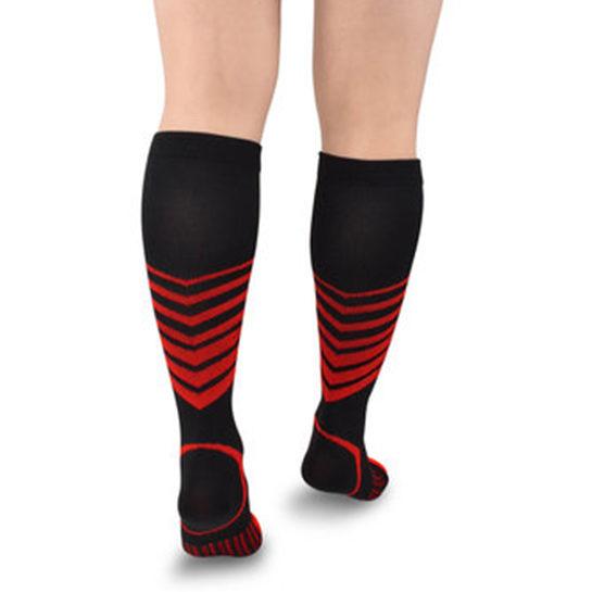 Sport Compressie Sokken Stripes Rood Achter