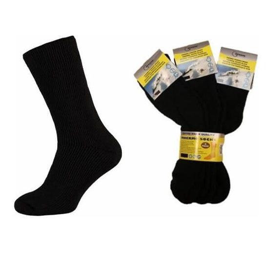 5106 Benson Thermo Sokken 6 Paar Zwart Blanco 2 Met Pack