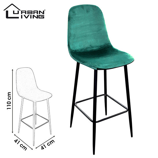 Urban Living Barstoelen 4 Set Groen