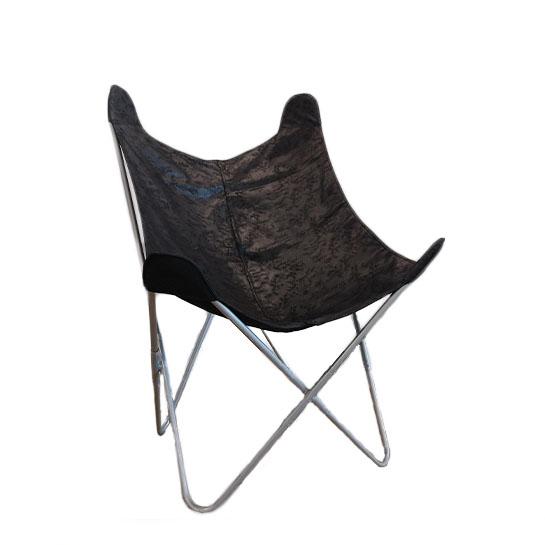 Chique Vlinderstoel Grijs Op Wit
