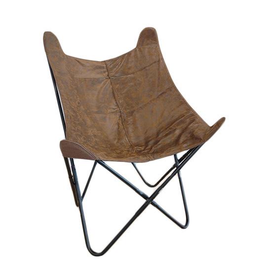 Chique Vlinderstoel Bruin Op Wit