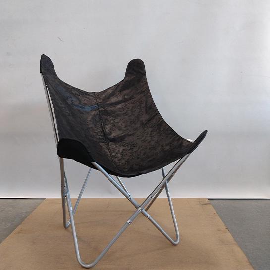 Chique Vlinderstoel Grijs Concept