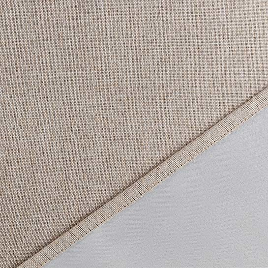 Luxe Gweven Gordijn Beige Close Up 1