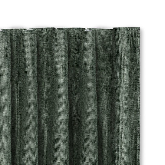Luxe Gweven Gordijn Groen Hakenn