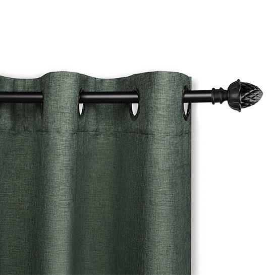 Luxe Gweven Gordijn Groen Ringenn