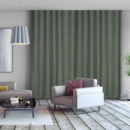 Luxe Gweven Gordijn Groen Sfeer 1