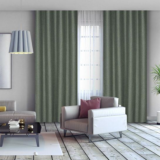 Luxe Gweven Gordijn Groen Sfeer 2