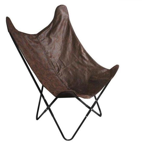 Vlinderstoel Bruin