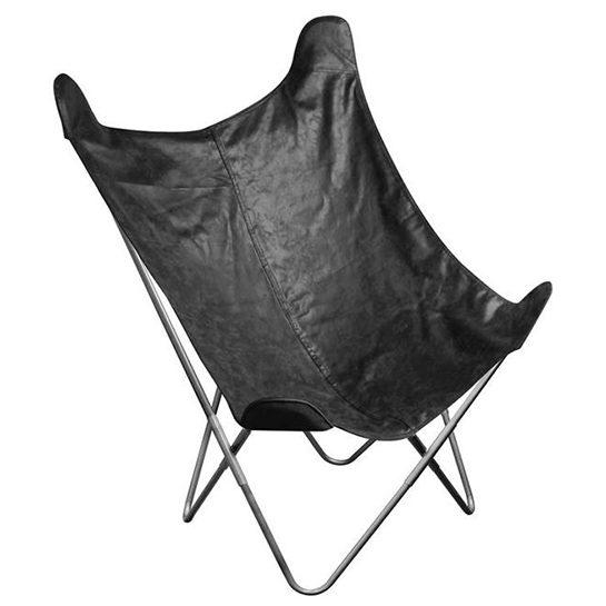 Vlinderstoel Zwart