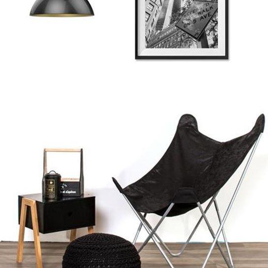 Vlinderstoel Zwart Sfeer