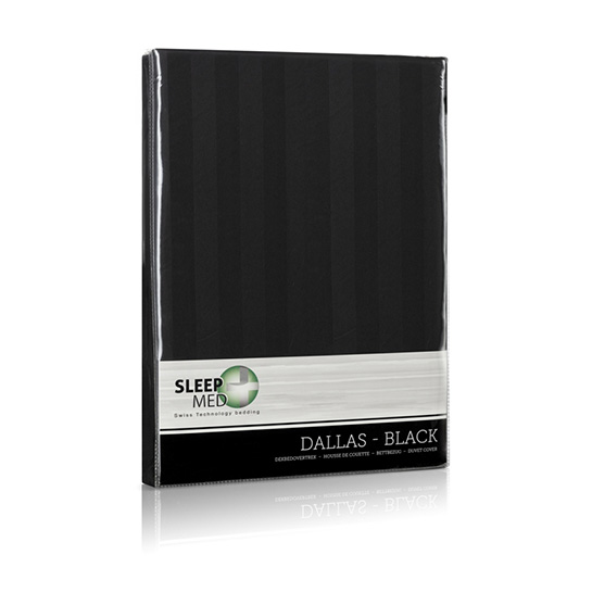 Sleepmed Dekbedovertrek Dallas Black Verpakking