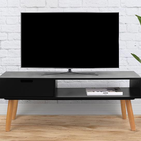 Zwart Bruine Tv Kast.Tv Meubel Venetie Van Lifa Living Webshop Outlet Nl
