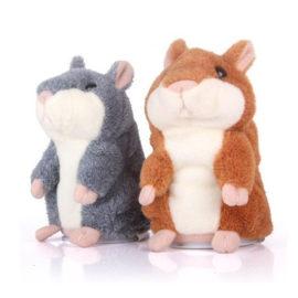 Hammie De Hamster Bruin En Grijs Vrijstaand