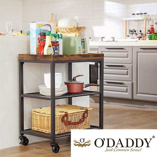 O Daddy Home Living Keukentrolley Op Wieltjes Sfeer