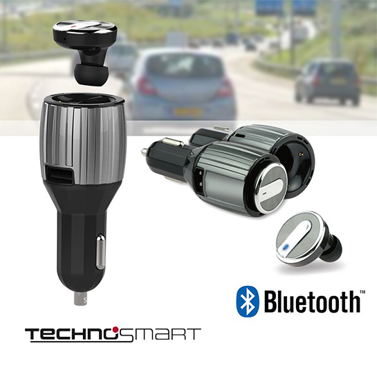 Technosmart Bluetooth Headset Hoofd