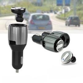 Bluetooth Headset & Auto Oplader Van Technosmart