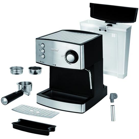 Mpm Rvs Espressomachine Gemalen Koffiebonen Vrijstaand
