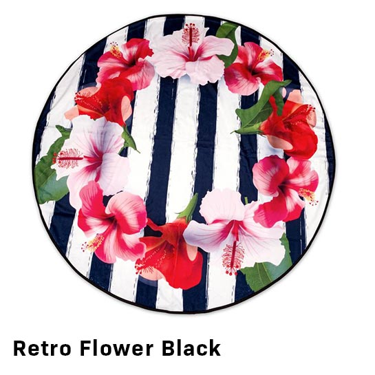 Retro Flower Black Vrijstaand