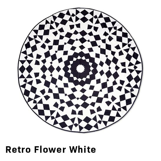 Retro Flower White Vrijstaand 2