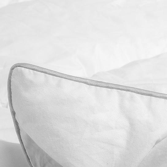 Velvet Half Dons Enkel Dekbed White Close Up 3
