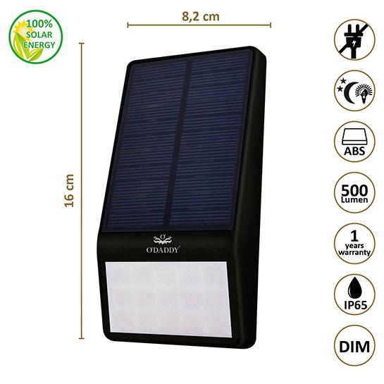Odaddy Nodus Solar Wandlamp Maten