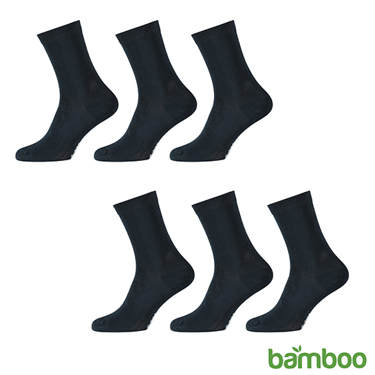 Zachte Bamboo Sokken Blauw Vrijstaand 2