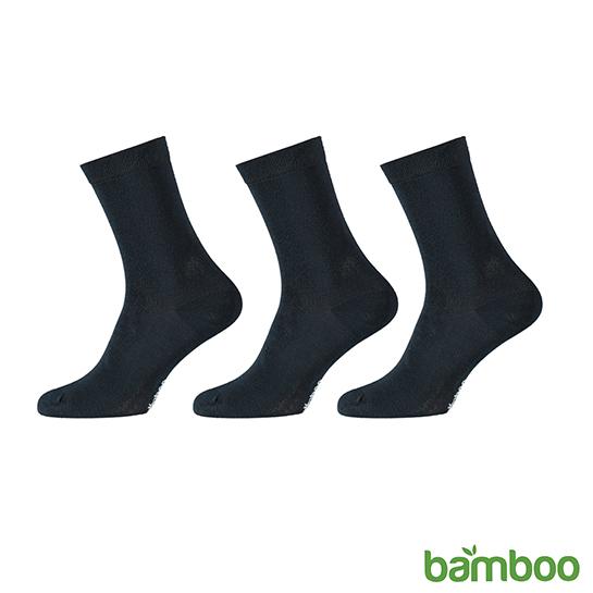 Zachte Bamboo Sokken Blauw Vrijstaand