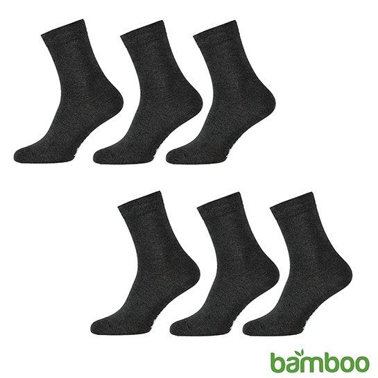 Zachte Bamboo Sokken Donker Grijs Vrijstaand