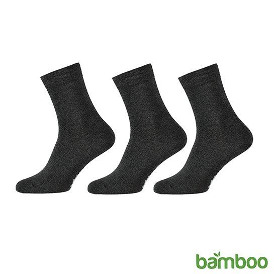 Zachte Bamboo Sokken Donker Grijs