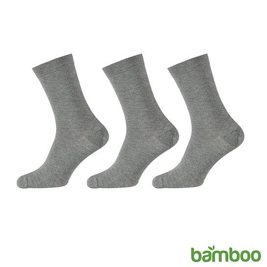 Zachte Bamboo Sokken Grijs Vrijstaand
