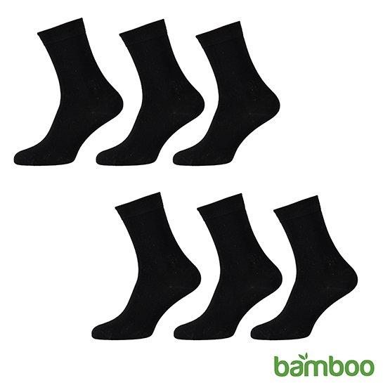 Zachte Bamboo Sokken Zwart Vrijstaand 2