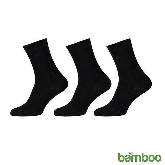 Zachte Bamboo Sokken Zwart Vrijstaand