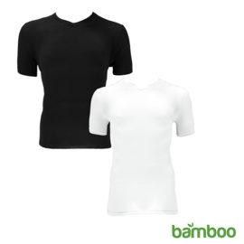 Zachte Bamboo V Hals T Shirts Hoofd