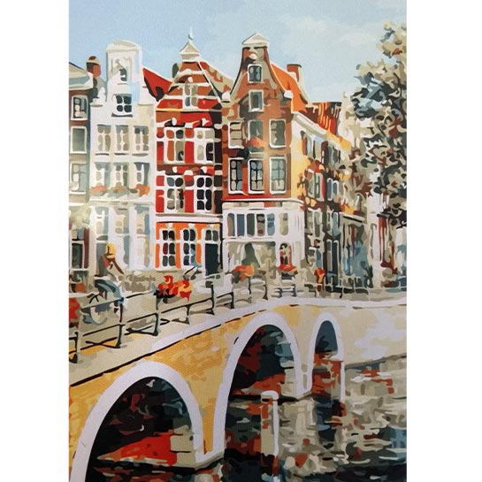 Binnenstad Amsterdam Schilderen Op Nummers
