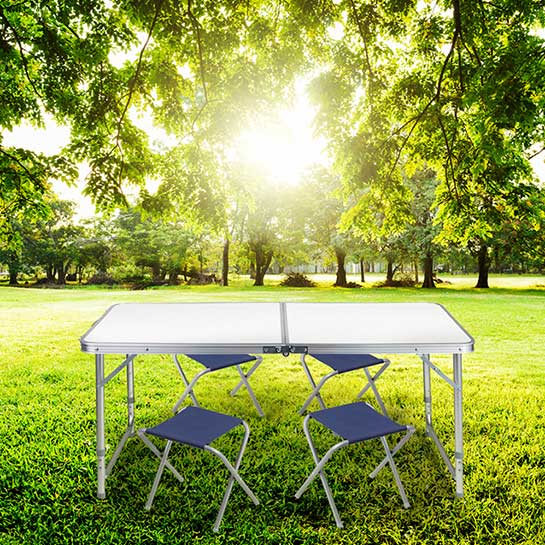 Tuinset (tafel+stoel) 5 Delig Grey Sfeer 2