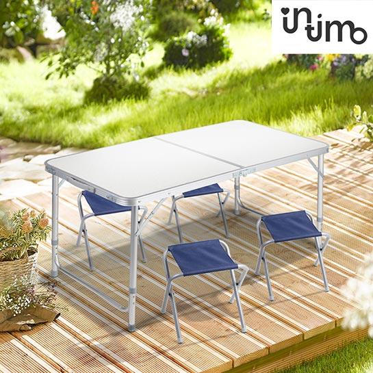 Tuinset (tafel+stoel) 5 Delig Grey Sfeer