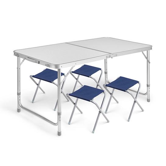Tuinset (tafel+stoel) 5 Delig Grey Vrijstaand 2
