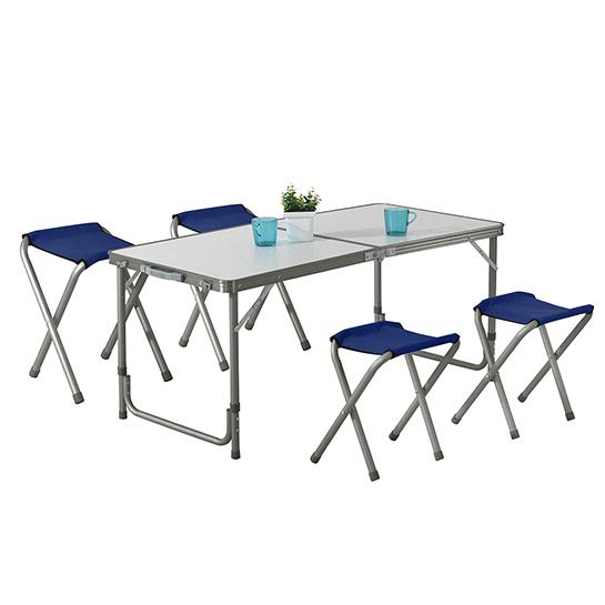 Tuinset (tafel+stoel) 5 Delig Grey Vrijstaand