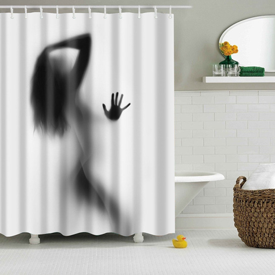 Waterdichte Vrouwen Shadow Douchegordijn Sfeer