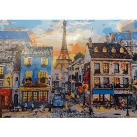 Zonsondergang Parijs Schilderen Op Nummers
